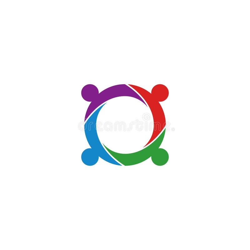 Ilustracja społeczność okręgu loga ikony szablon ilustracja wektor