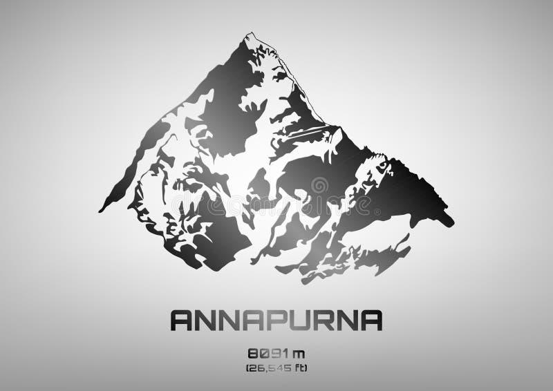Ilustracja stal Mt annapurna ilustracja wektor