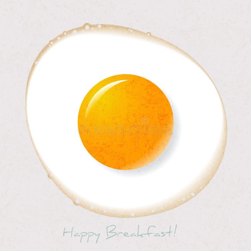 Ilustracja strony Up Smażący jajko Dzień dobry pocztówka Śniadaniowy obrazek ilustracji