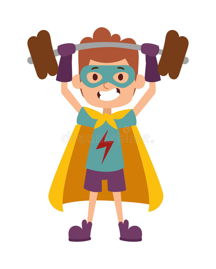 Ilustracja super bohatera chłopiec postać z kreskówki wektor ilustracja wektor