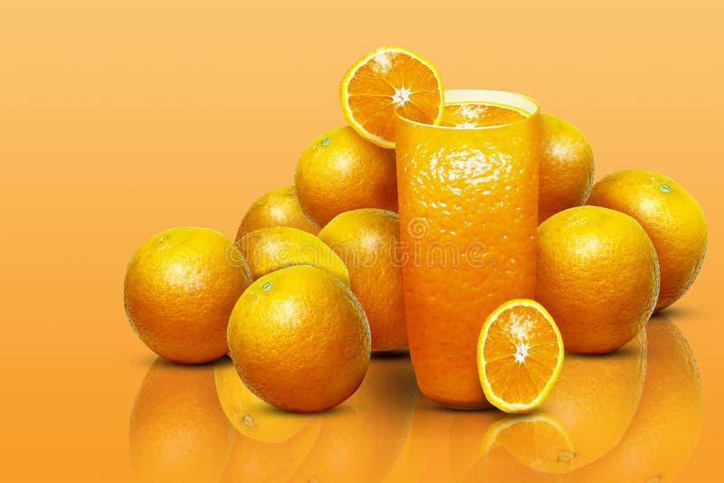 Ilustracja szkło sok pomarańczowy zdjęcie royalty free