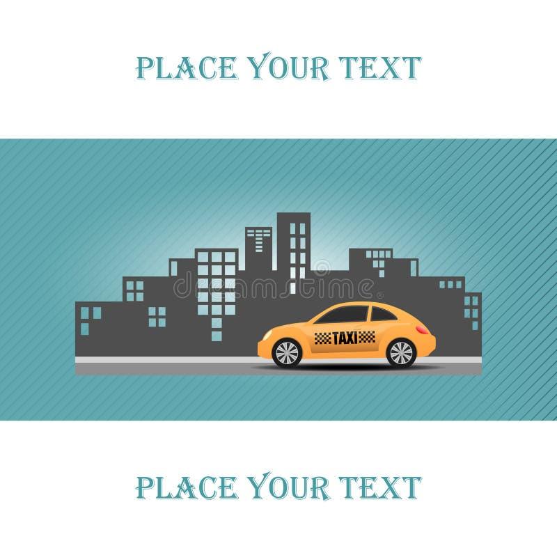 Ilustracja taxi na miasta tle royalty ilustracja