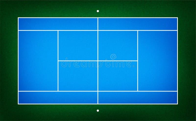 Ilustracja tenisowy sąd ilustracja wektor