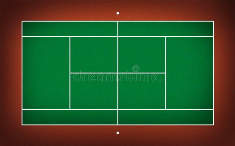 Ilustracja tenisowy sąd ilustracji
