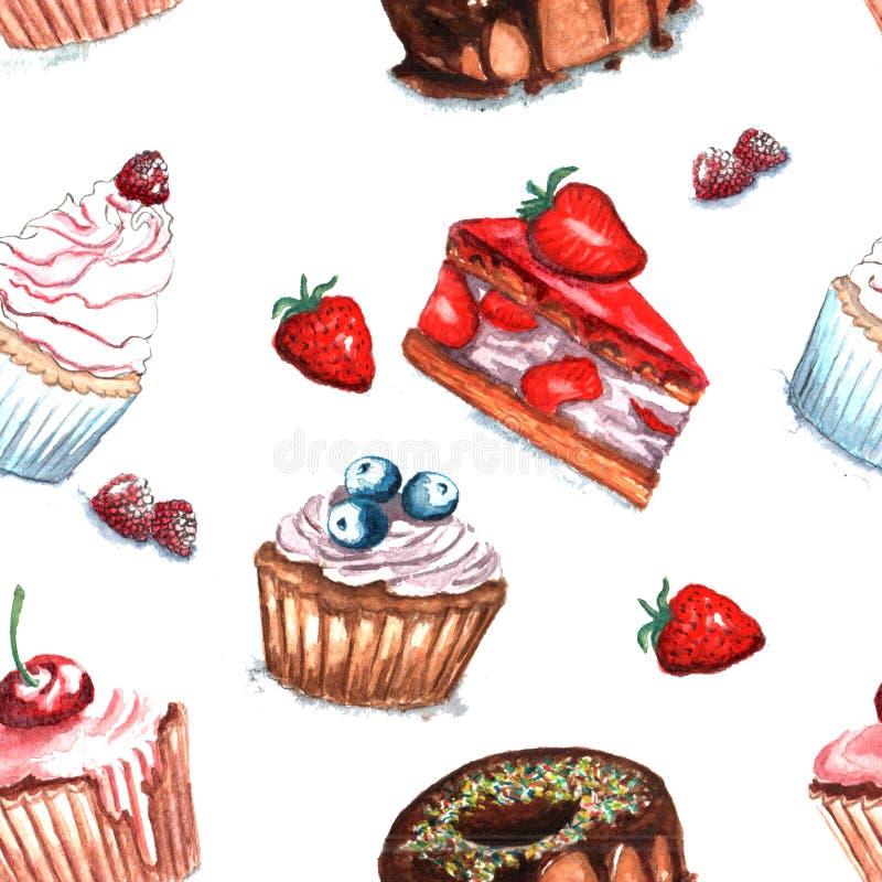 Ilustracja torta wzór ilustracja wektor
