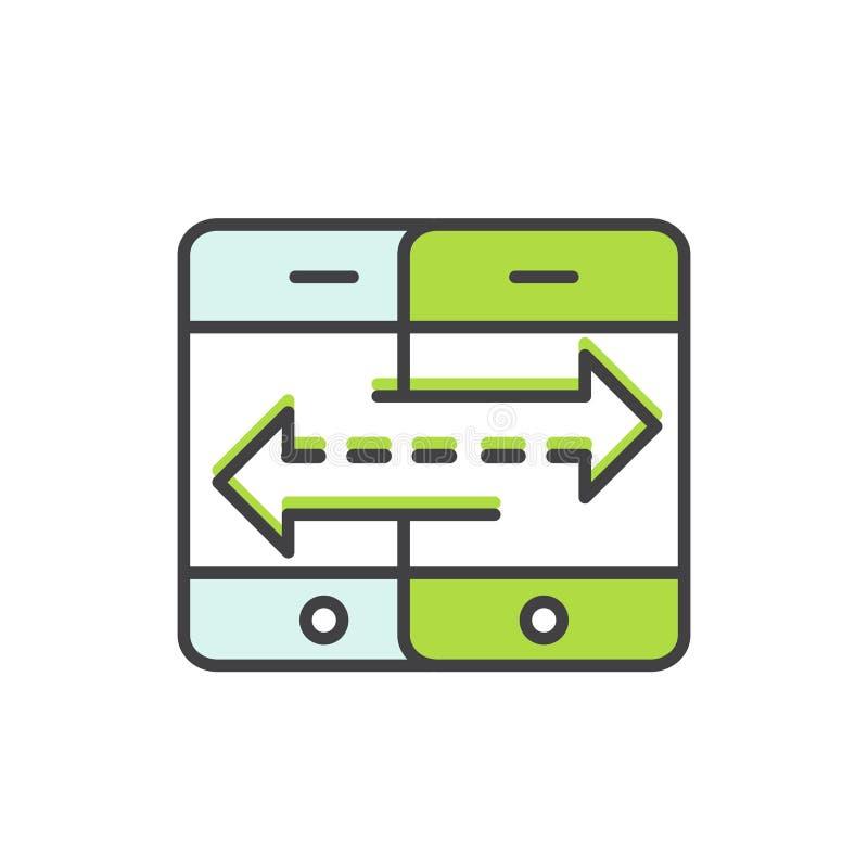 Ilustracja transfer danych ilustracja wektor