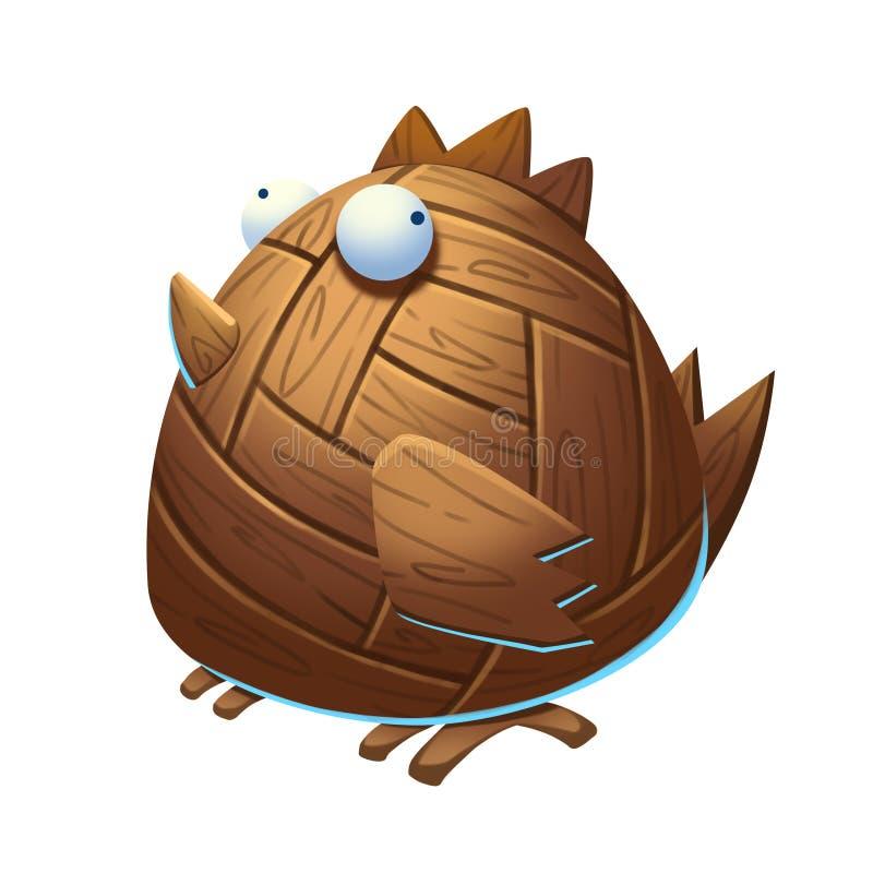 Ilustracja: Trojański Drewniany kurczak ilustracji