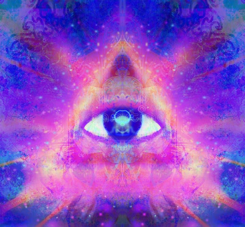 Ilustracja trzeci oka mistyczny znak royalty ilustracja