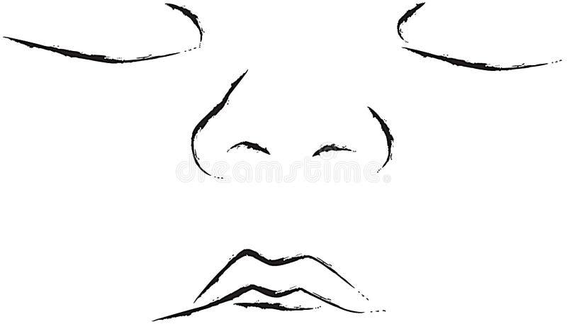 ilustracja twarzy dziecka ilustracji
