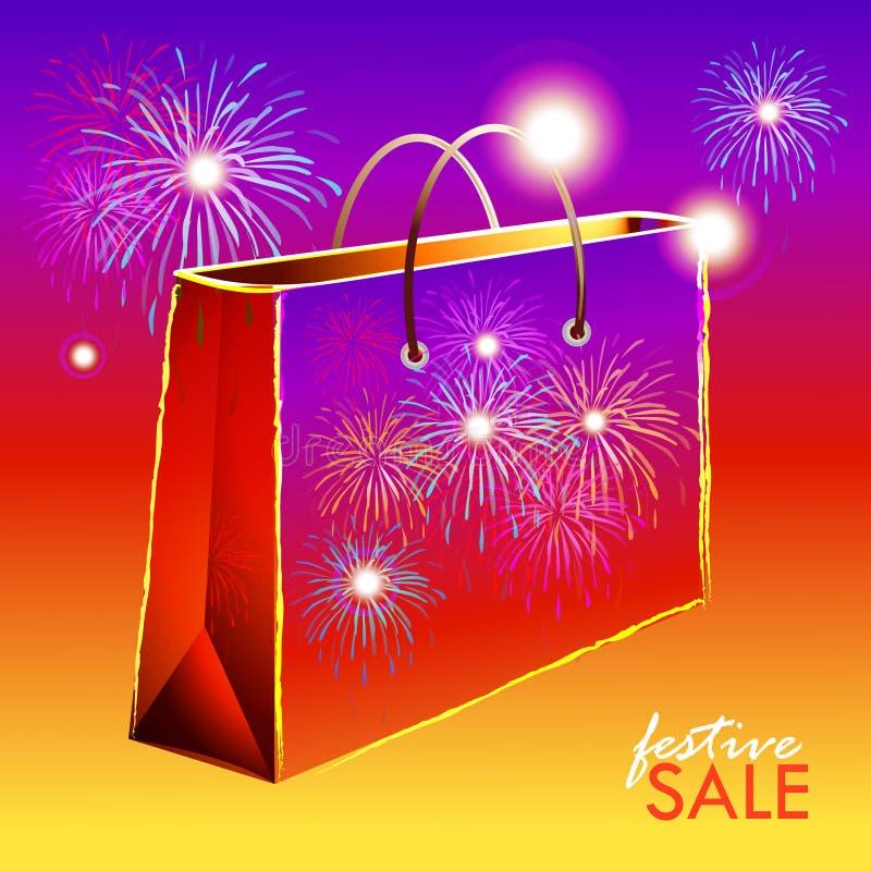 Ilustracja Uroczysta Diwali festiwalu sprzedaż royalty ilustracja