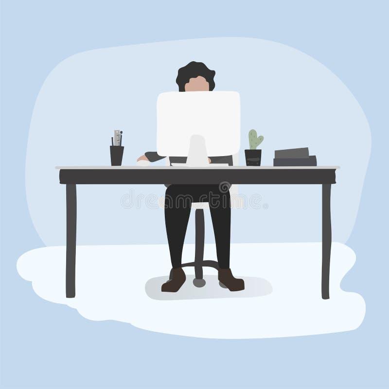 Ilustracja urzędnika styl życia ilustracji