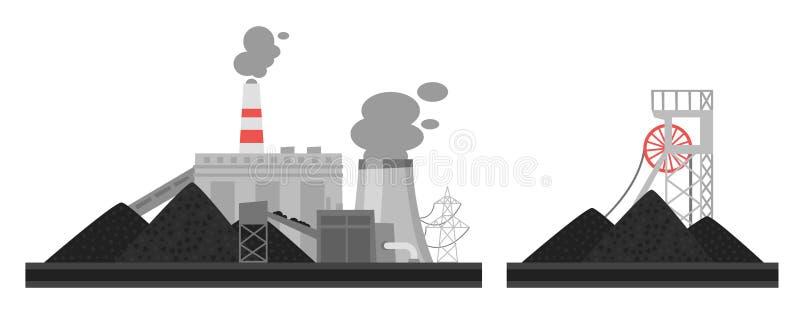 Ilustracja węglowa roślina ilustracja wektor