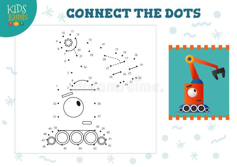 Ilustracja wektora gier typu 'kropka-kropka' Aktywność rysowania dzieci w przedszkolu royalty ilustracja