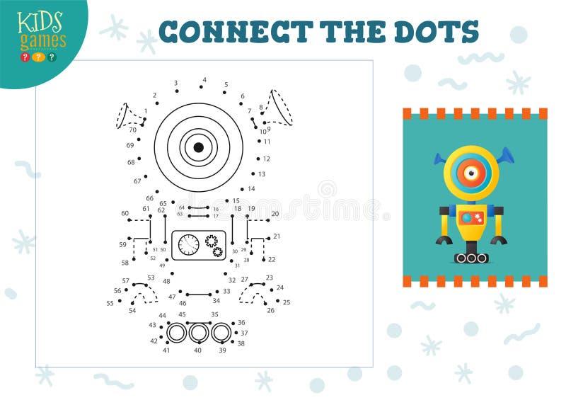 Ilustracja wektora gier typu 'kropka-kropka' Przedszkola dla dzieci ilustracja wektor