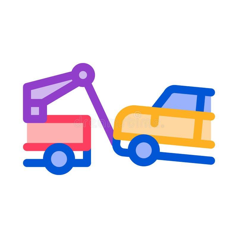 Ilustracja wektora ikony ciężarówki Escape Machine ilustracji