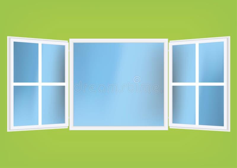 ilustracja wektora pomocniczym otwarte okno ilustracji