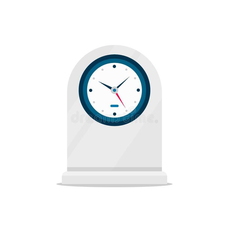 Ilustracja wektora zegara tabeli symbol znaku czasu zegara obraz royalty free