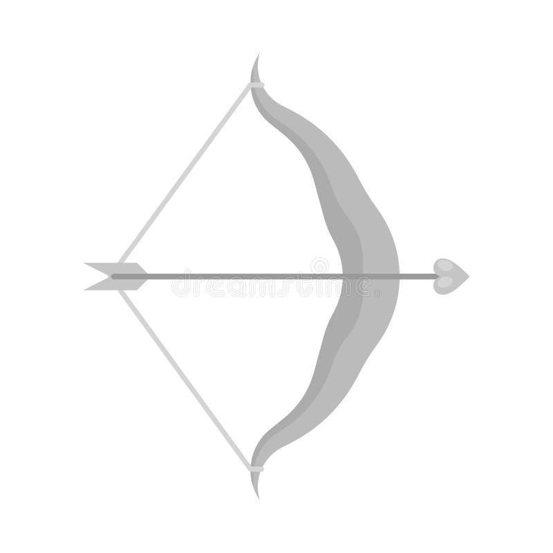 Ilustracja wektorowa strzałki i ikony amour. Zestaw ilustracji strzałek i wektora miłosnego royalty ilustracja