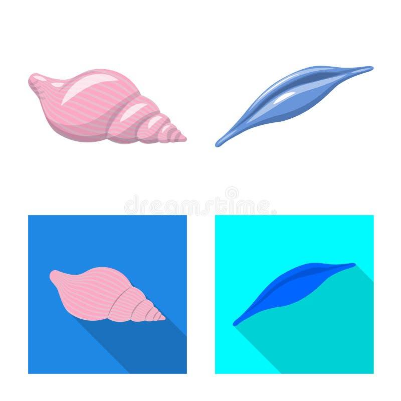 Ilustracja wektorowa zwierzęcia i ikony dekoracji Zbiór symboli zasobów zwierzęcych i oceanicznych dla sieci royalty ilustracja