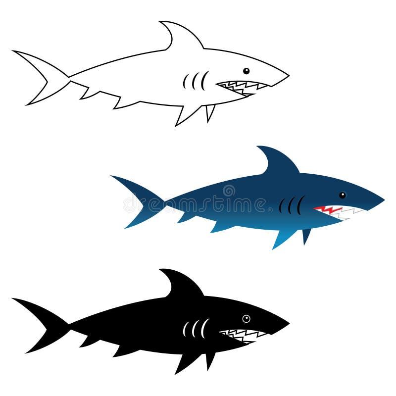 Ilustracja wielki biały rekin ilustracji