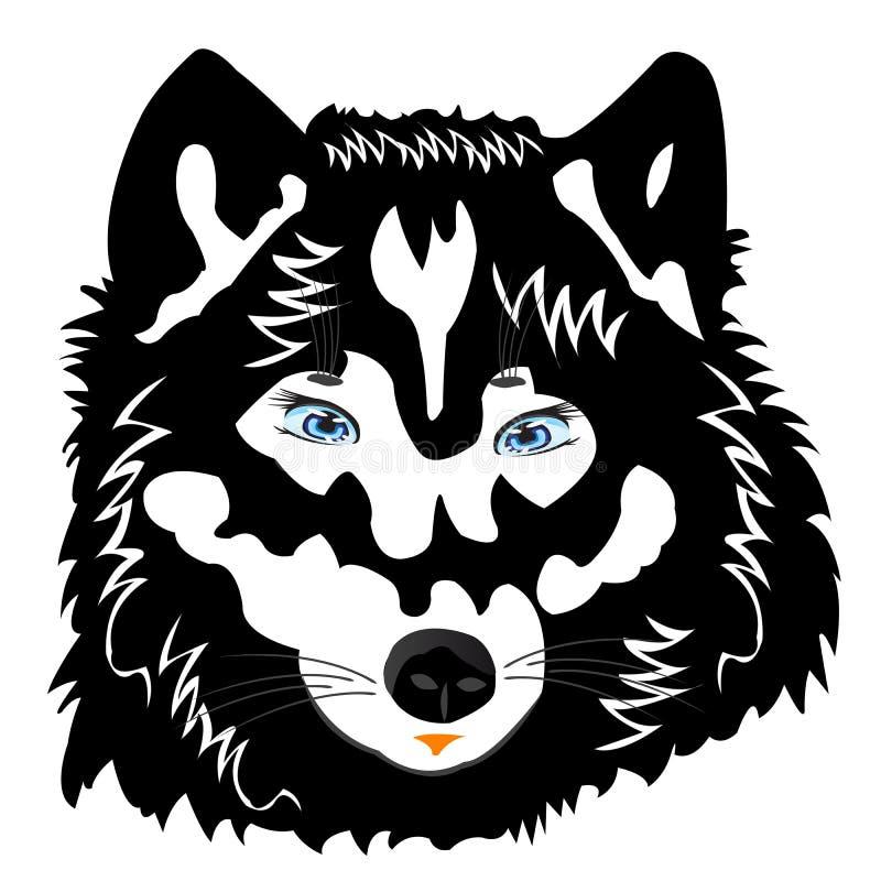 ilustracja wilk wektorowy biały royalty ilustracja