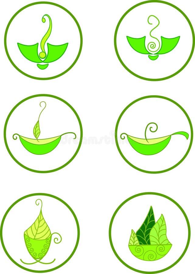 Ilustracja zielona herbata zdjęcie stock