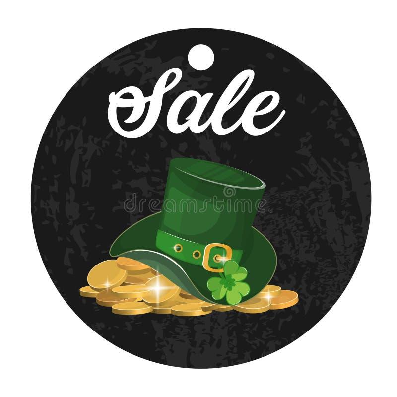 Ilustracja, zielony St Patrick s dnia kapelusz z koniczyną ilustracja wektor