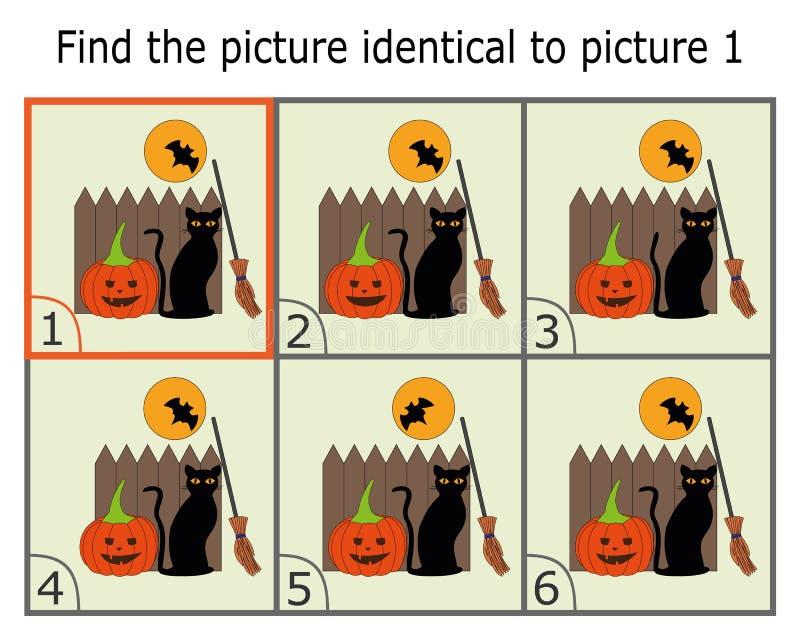 Ilustracja znalezienie Dwa Identycznego obrazka Edukacyjna gra dla dzieci Znajduje To samo ilustracja wektor