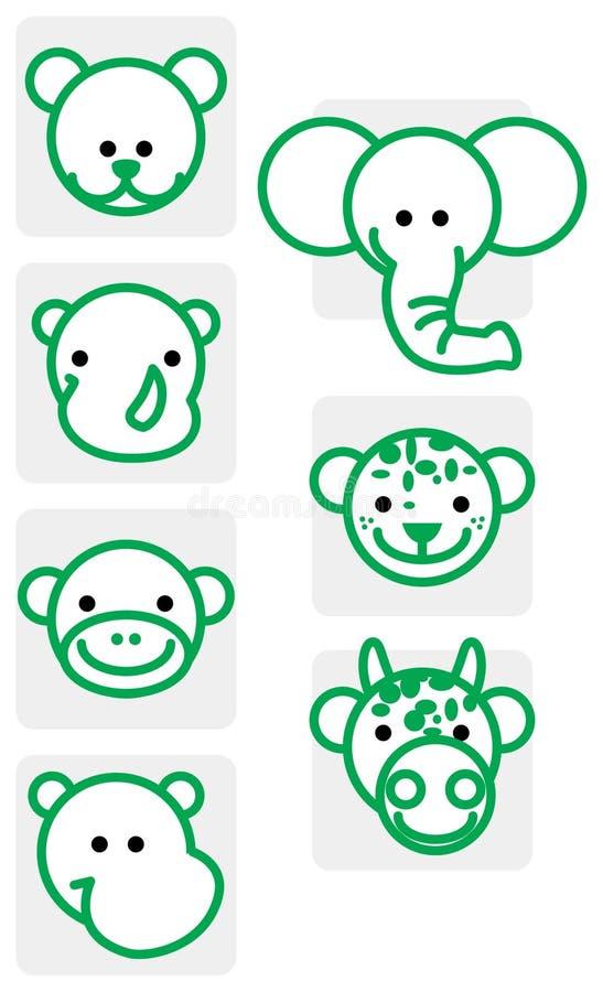 Download Ilustracja zwierzęcy zoo ilustracja wektor. Ilustracja złożonej z niedźwiedź - 13343311