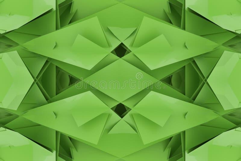 Ilustracje CGI, przypadkowy geometryczny, tło dla graficznego projekta lub tapety, 3 d czyni? ilustracji