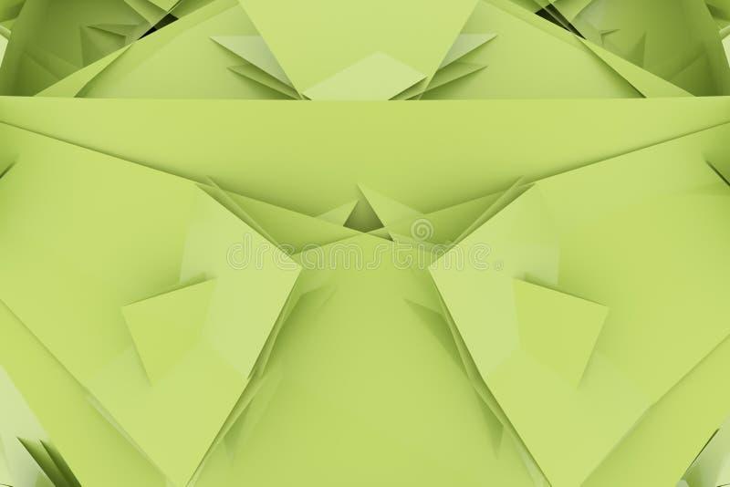 Ilustracje CGI, przypadkowy geometryczny, t?o dla graficznego projekta lub tapety, 3 d czyni? ilustracja wektor
