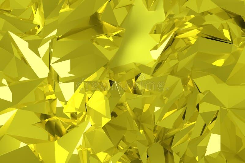 Ilustracje CGI, przypadkowy geometryczny, t?o dla graficznego projekta lub tapety, 3 d czyni? royalty ilustracja