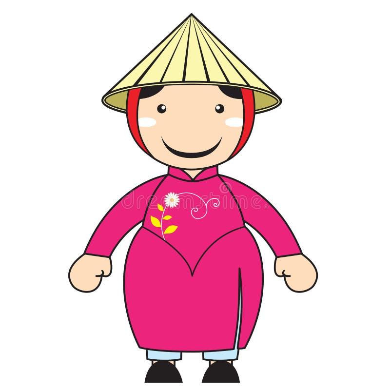 chińczyka Yunnan kreskówka ilustracja wektor