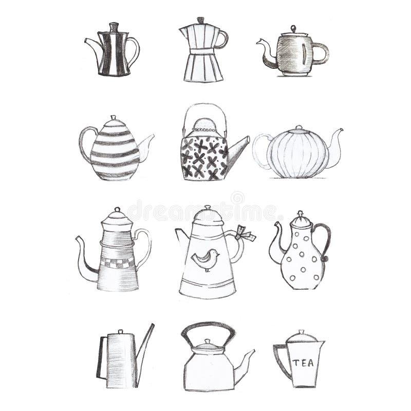 Ilustracje rysunków odręcznych/ilustracji dla pocztówki obrazy royalty free