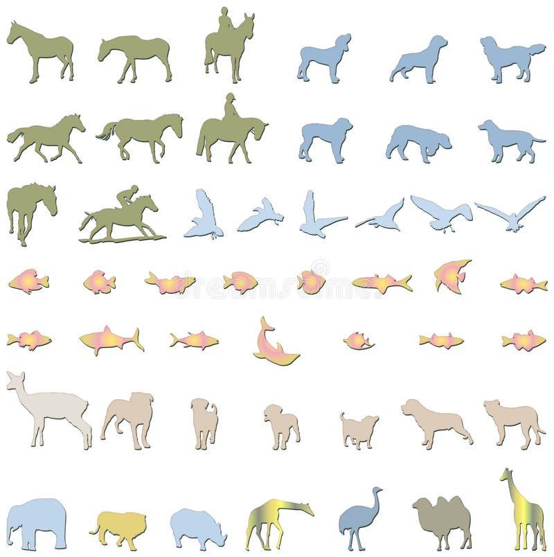 ilustracje zwierzę. royalty ilustracja