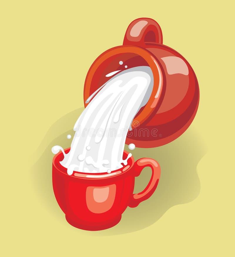 ilustracji mleka ilustracja wektor