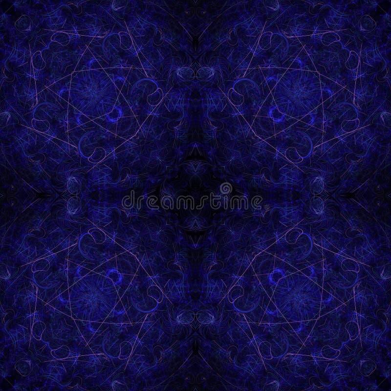Ilustracji psychodelicznego fractal futurystyczny geometryczny kolorowy ilustracja wektor