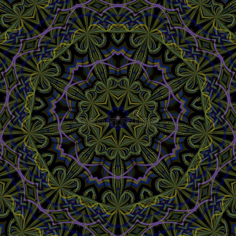 Ilustracji psychodelicznego fractal futurystyczny geometryczny kolorowy ilustracji
