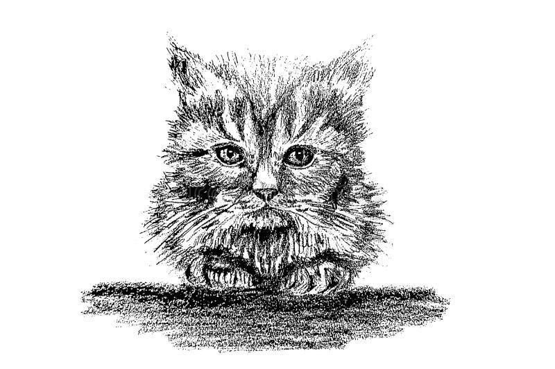 Ilustracyjna «figlarka «lub «Mała piłka « royalty ilustracja
