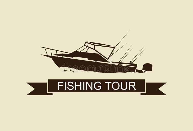 Ilustracyjna łódź rybacka, wektor ilustracji