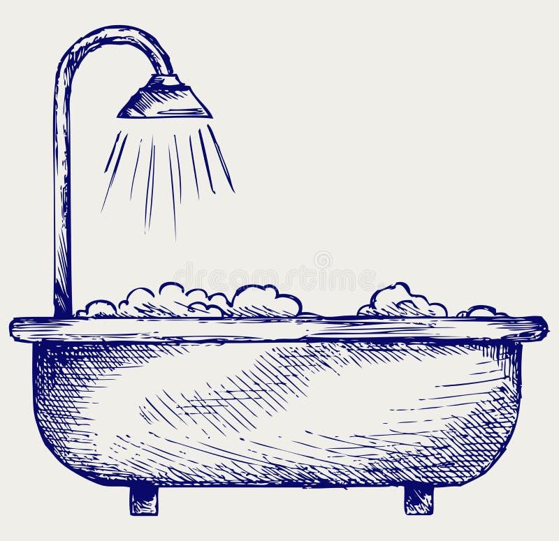 Ilustracyjna łazienka royalty ilustracja