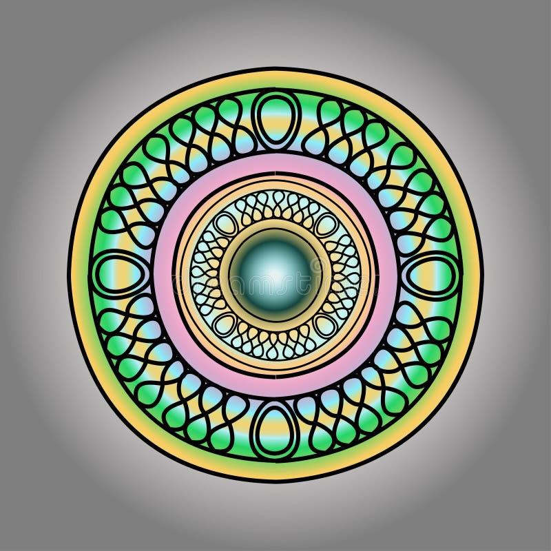 Ilustracyjna broszka z perłami ilustracja wektor