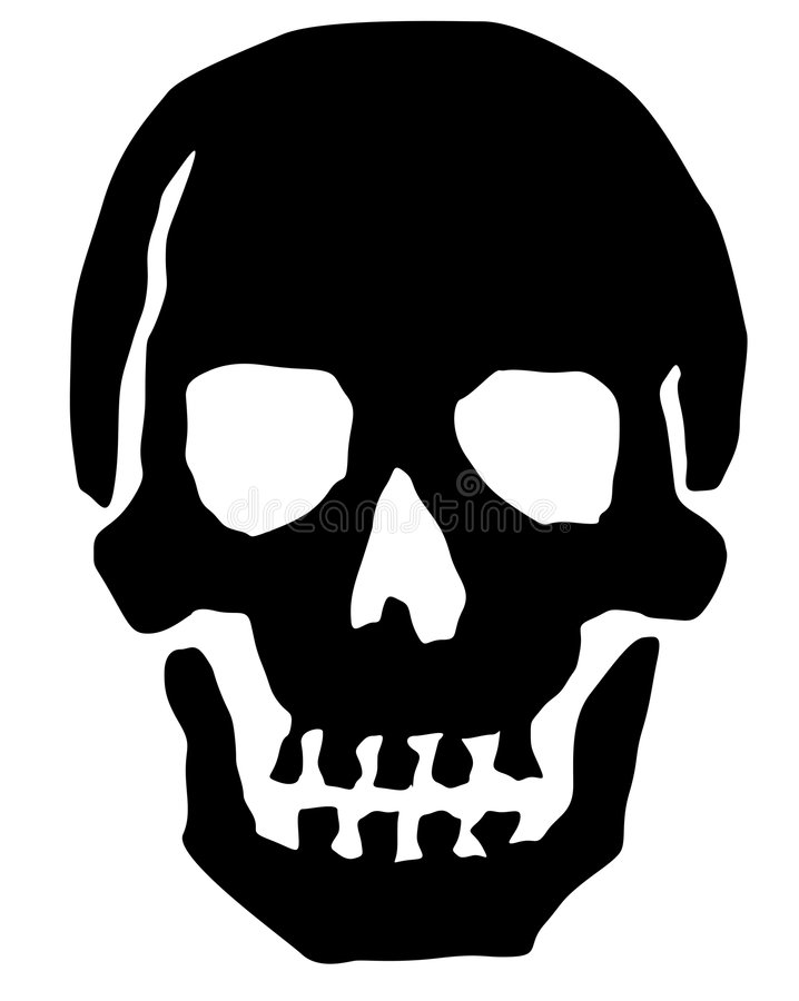 ilustracyjna czaszki royalty ilustracja