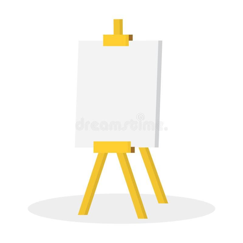 Ilustracyjna Drewniana sztaluga z pustą przestrzenią ilustracji