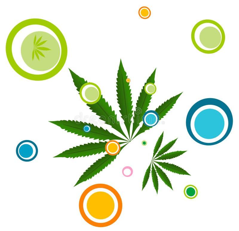 ilustracyjna liść marihuany royalty ilustracja