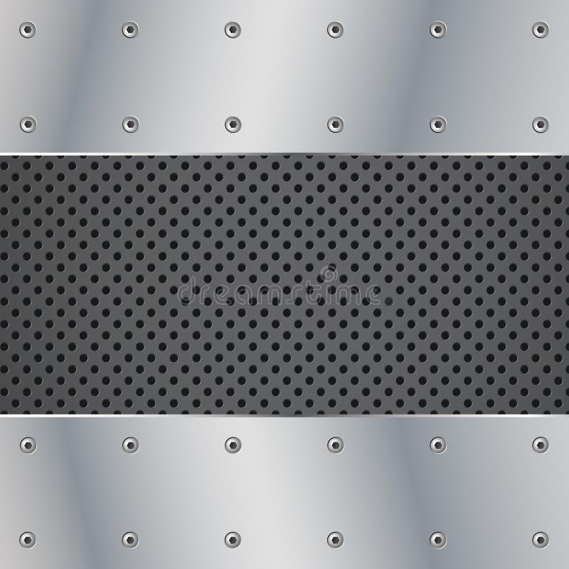 ilustracyjna metalu talerza śruba ilustracja wektor