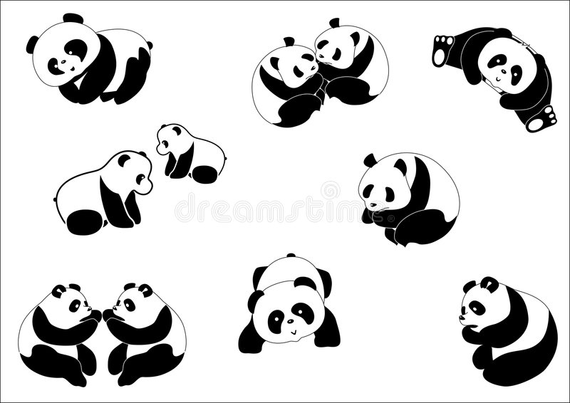 ilustracyjna panda ilustracja wektor