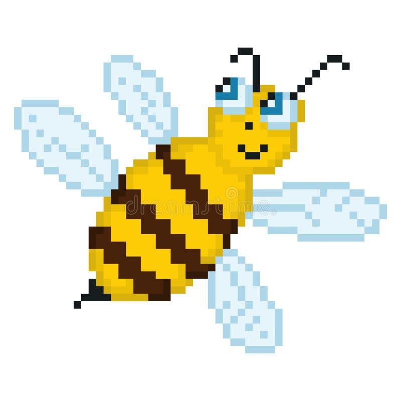 Ilustracyjna piksel pszczoła ilustracja wektor