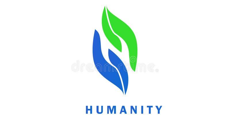 Ilustracyjna pomoc; ing ręki symbolu ludzkość obrazy stock