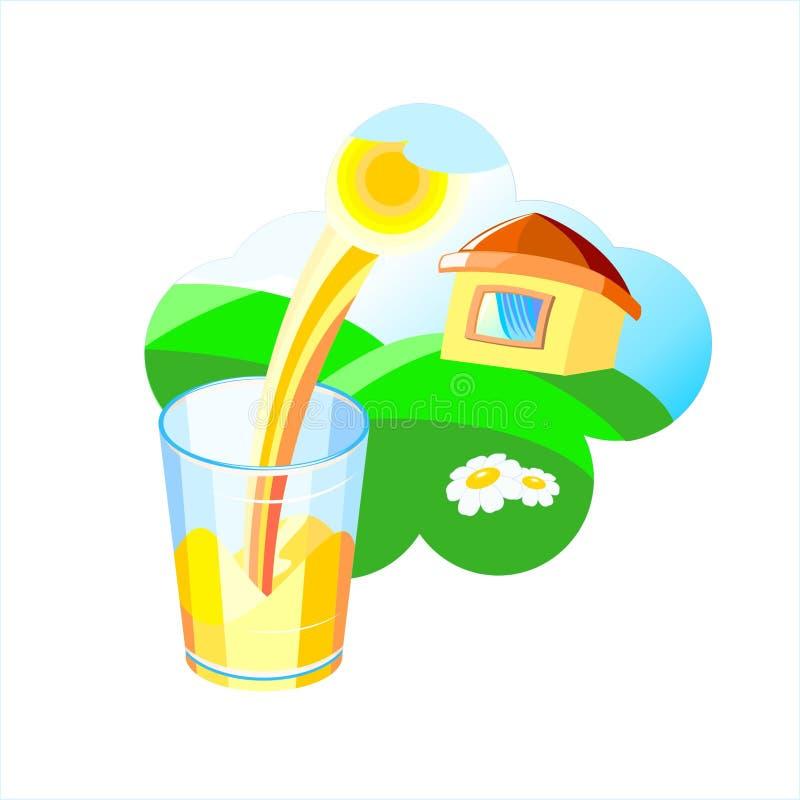 ilustracyjna sok pomarańczowy obrazy stock